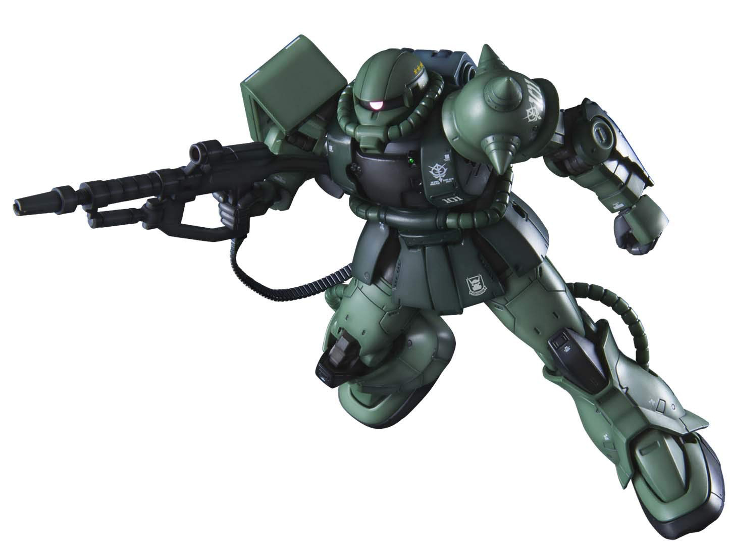 Gundam High Grade Gundam The Origin 1/144 Scale Model Kit: #025 MS-06C-6/R6 Zaku II Type C-6/R6