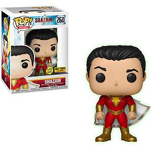 Pop! Heroes Shazam! Vinyl Figure Shazam (Glows in the Dark) #260 Hot Topic Exclusive