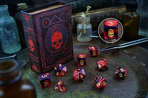 Elder Dice 9-Piece Polyhedral Set: Mark of the Necronomicon
