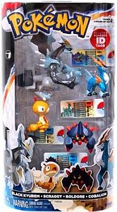 "TOMY Pokemon 4"" Legendary Gift Pack: 4-Pack (Black Kyurem, Scraggy, Boldore & Cobalion)"
