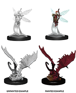 Dungeons & Dragons Nolzur's Marvelous Unpainted Miniatures: Sprite and Pseudodragon