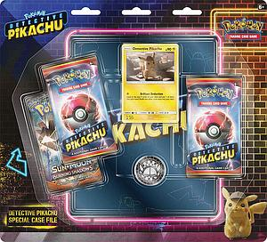 Pokemon Trading Card Game: Detective Pikachu Special Case File 3-Pack Blister with 4-Pocket Portfolio