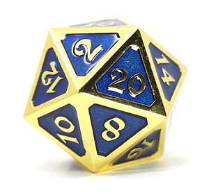 Big D20 - Mythica Gold Sapphire