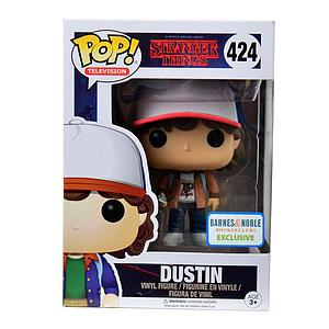 Pop! Television Stranger Things Vinyl Figure Dustin (Brown Jacket) #424 Barnes & Noble Excluisve