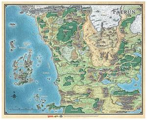 Dungeons & Dragons Faerun Map Sword Coast Adventurer's Guide