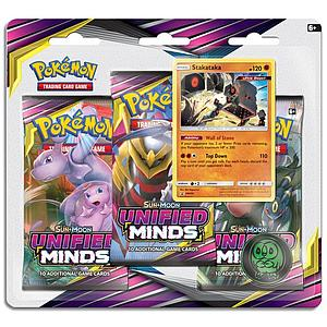 Pokemon Trading Card Game: Sun & Moon (SM11) Unified Minds 3-Pack Blister - Stakataka