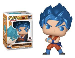 Pop! Animation Dragon Ball Super Vinyl Figure SSGSS Goku (Kamehameha) (Metallic) #563 Chalice Collectibles Exclusive