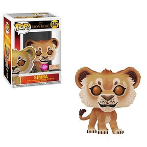 Pop! Disney Lion King Vinyl Figure Simba (Live Action) (Flocked) #547 BoxLunch Exclusive
