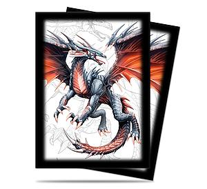 Card Sleeves 50-pack Standard Size: Black Dragon