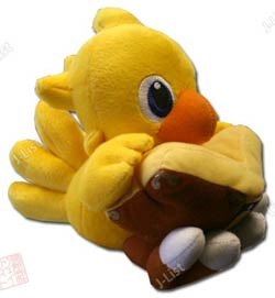 "Plush Toy Final Fantasy 6"" Chocobo with book"