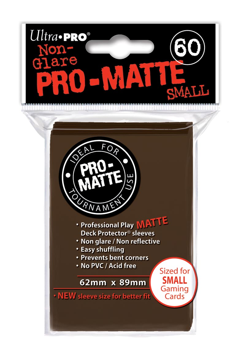 Card Sleeves 60-pack Non-Glare Pro-Matte Small Size: Brown