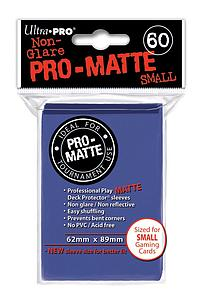 Non-Glare Pro-Matte: Blue Small Card Sleeves (62mm x 89mm)