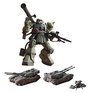 Gundam High Grade Universal Century 1/144 Scale Model Kit: MS-06 Zaku The Ground War Set