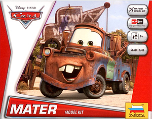 Zvezda Disney Cars 1:43 Scale Model Kit: Mater