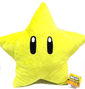 "Plush Toy Super Mario Bros 12"" Star"