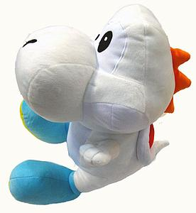 "Plush Toy Super Mario Bros 12"" Yoshi White"