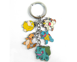 Pokemon Keychain: Generation 1 (Charmander, Bulbasaur, Squirtle, Meowth, Psyduck)