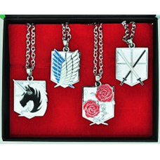 Attack on Titan 4-Piece Necklace: Military