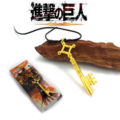 Attack on Titan Necklace: Eren's Golden Key