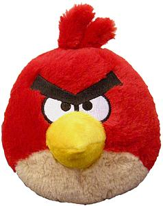 Plush Toy Angry Birds 5 Inch Red Sound Bird