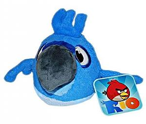 Plush Toy Angry Birds 5 Inch RIO Blu with sound